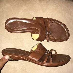 Cole Haan Nike Air Brown Leather Sandals